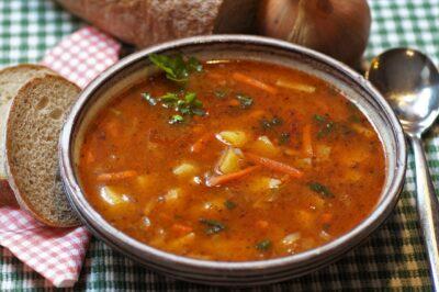 Illustratie bij verhaal over soep.