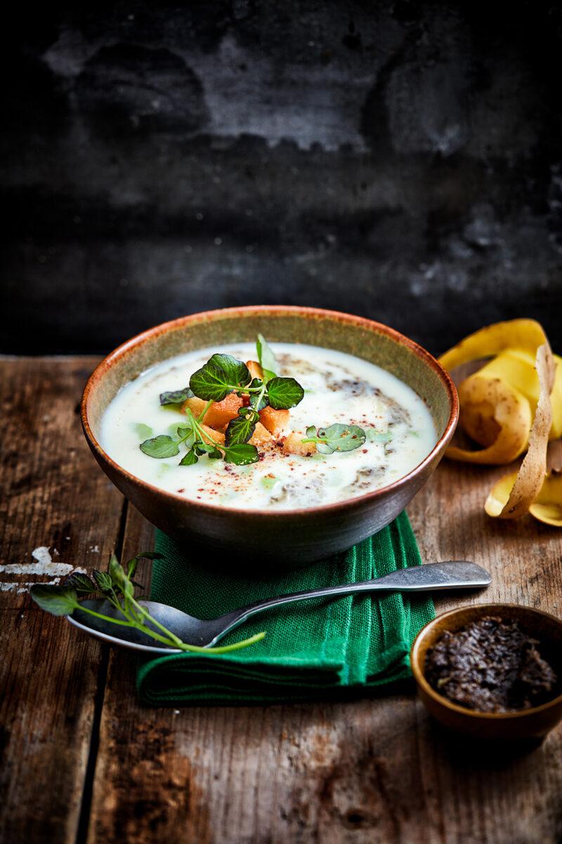 Aardappel-truffel soep van Knorr