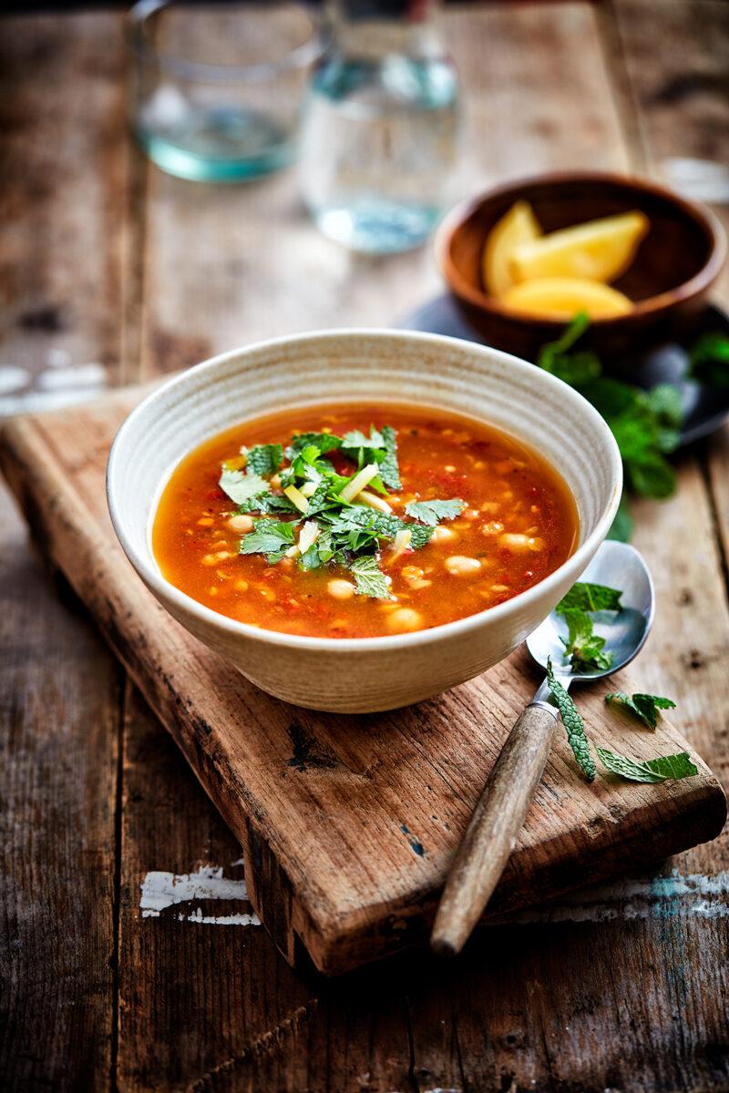 Marokkaanse Harira soep.